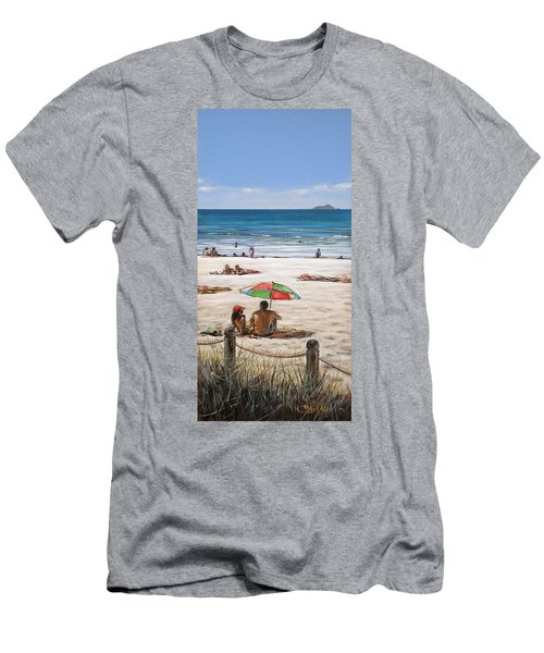 Mt Maunganui Beach 090209 Men's T-Shirt (Athletic Fit)