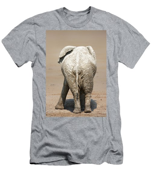 Muddy Elephant With Funny Stance  Men's T-Shirt (Athletic Fit)