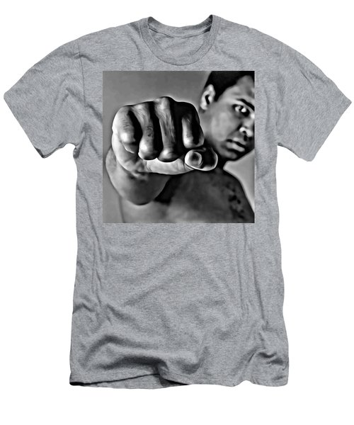 Muhammad Ali Fist Men's T-Shirt (Athletic Fit)