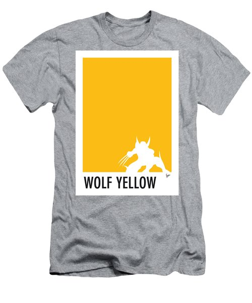 My Superhero 05 Wolf Yellow Minimal Poster Men's T-Shirt (Athletic Fit)