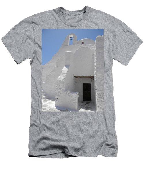 Mykonos Church Men's T-Shirt (Athletic Fit)