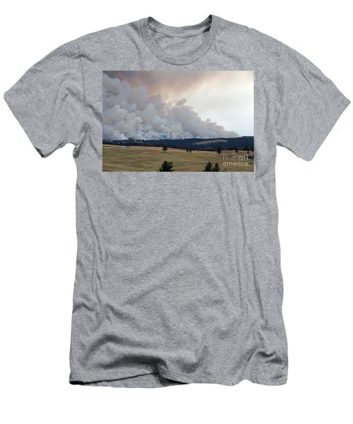 Myrtle Fire West Of Wind Cave National Park Men's T-Shirt (Athletic Fit)