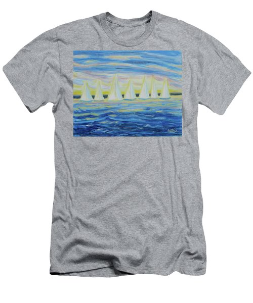 Nantucket Sunrise Men's T-Shirt (Athletic Fit)