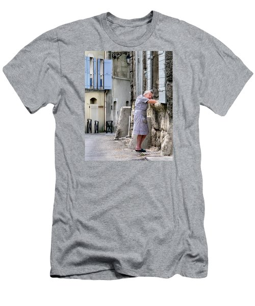 Men's T-Shirt (Slim Fit) featuring the photograph Naptime In Arles. France by Jennie Breeze