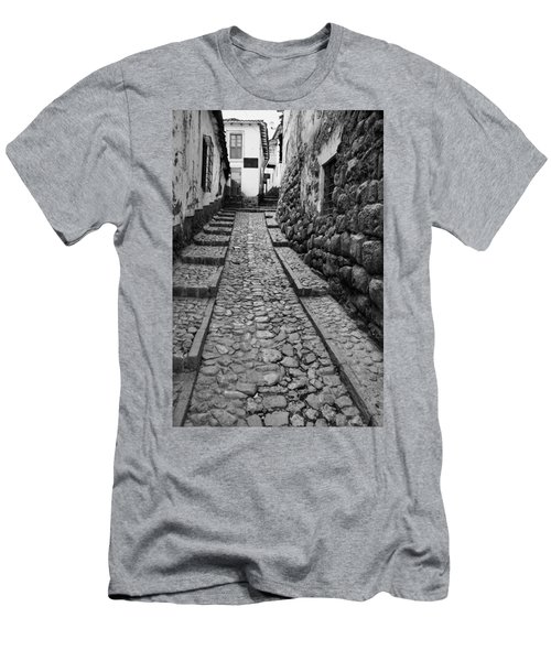 Narrow Street In Cusco Men's T-Shirt (Athletic Fit)
