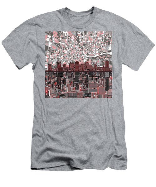 Nashville Skyline Abstract 3 Men's T-Shirt (Slim Fit) by Bekim Art