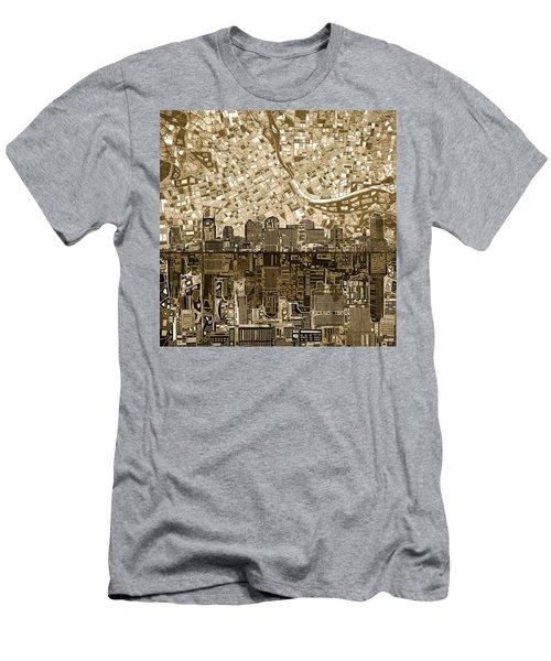 Nashville Skyline Abstract 6 Men's T-Shirt (Athletic Fit)