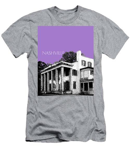 Nashville Skyline Belle Meade Plantation - Violet Men's T-Shirt (Athletic Fit)