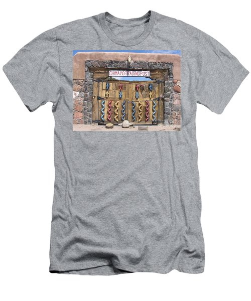 Men's T-Shirt (Slim Fit) featuring the photograph Native American Trading Post by Dora Sofia Caputo Photographic Art and Design