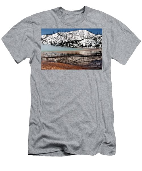 Men's T-Shirt (Slim Fit) featuring the photograph Nature's Mosaic I by Sharon Elliott