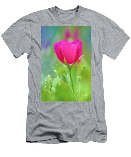 Men's T-Shirt (Slim Fit) featuring the photograph Natures Winecup South Texas by Dave Welling