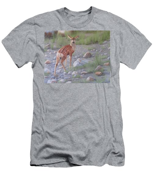 Men's T-Shirt (Athletic Fit) featuring the painting New Beginnings 2 by Tammy Taylor