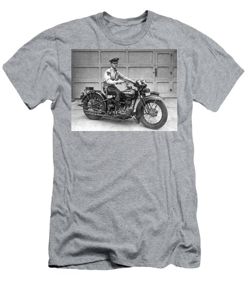 New Jersey Motorcycle Trooper Men's T-Shirt (Athletic Fit)