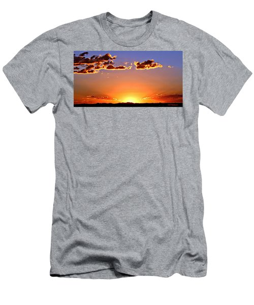 Men's T-Shirt (Slim Fit) featuring the photograph New Mexico Sunset Glow by Barbara Chichester