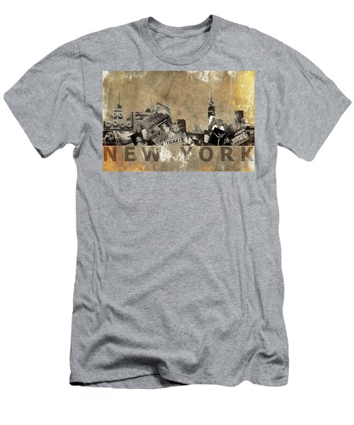 New York City Grunge Men's T-Shirt (Athletic Fit)