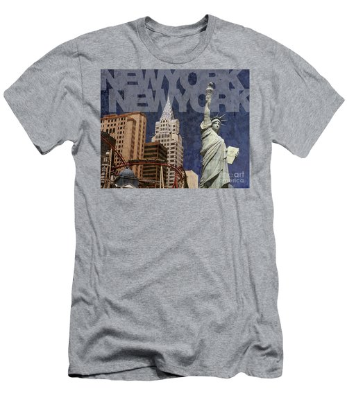 New York New York Las Vegas Men's T-Shirt (Athletic Fit)