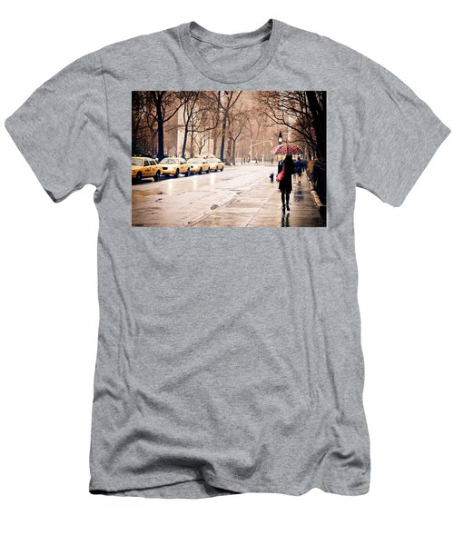 New York Rain - Greenwich Village Men's T-Shirt (Athletic Fit)