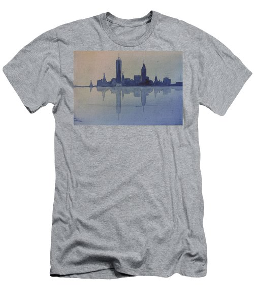 New York Skyline  Men's T-Shirt (Slim Fit) by Donna Walsh