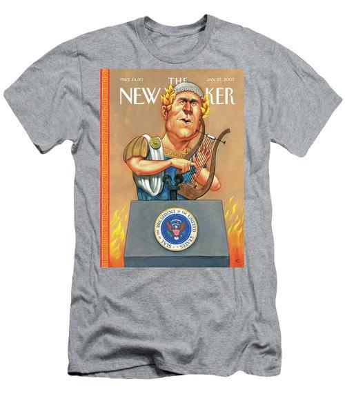 While Rome Burns Men's T-Shirt (Athletic Fit)