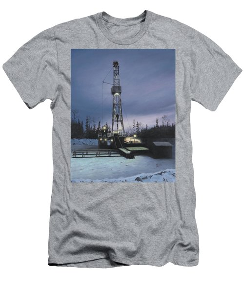 Men's T-Shirt (Athletic Fit) featuring the painting Night Shift by Tammy Taylor