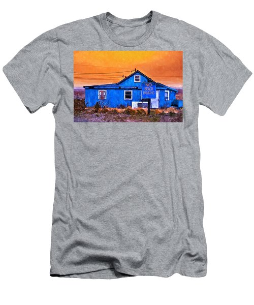 No Beach Parking Men's T-Shirt (Athletic Fit)