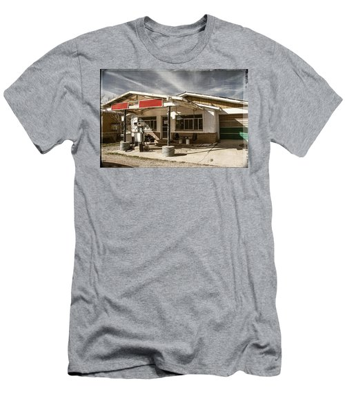 Men's T-Shirt (Slim Fit) featuring the photograph No Gas by Steven Bateson