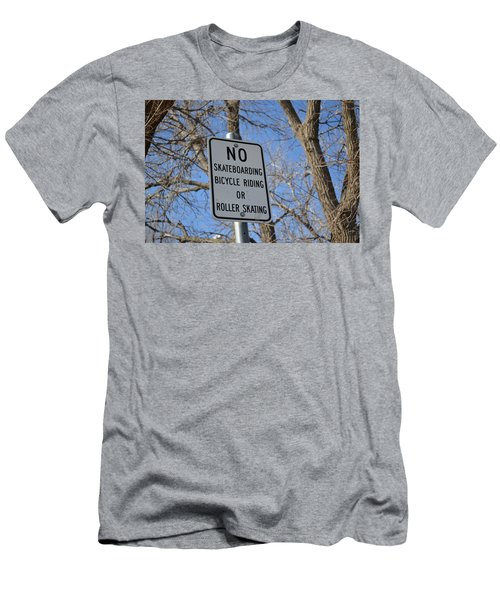 No Skating Men's T-Shirt (Athletic Fit)
