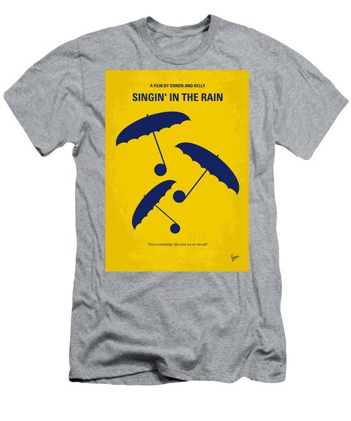 No254 My Singin In The Rain Minimal Movie Poster Men's T-Shirt (Athletic Fit)