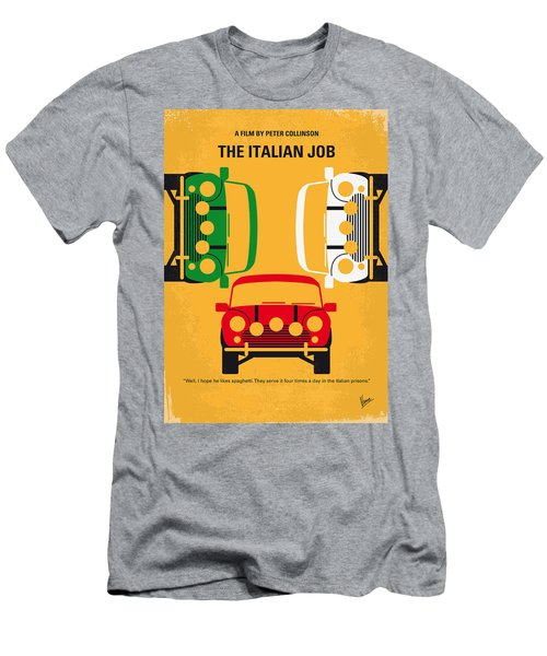No279 My The Italian Job Minimal Movie Poster Men's T-Shirt (Athletic Fit)