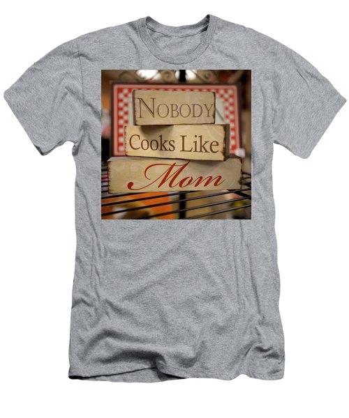 Nobody Cooks Like Mom - Square Men's T-Shirt (Athletic Fit)