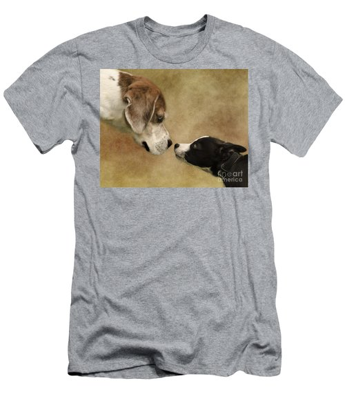 Nose To Nose Dogs Men's T-Shirt (Athletic Fit)