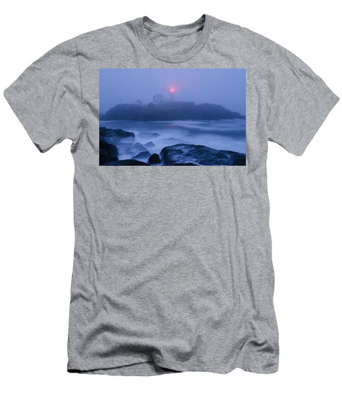 Nubble Light In Foggy Dawn Men's T-Shirt (Athletic Fit)