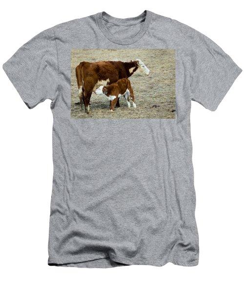 Nursing Calf Men's T-Shirt (Slim Fit)