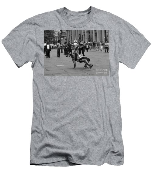Men's T-Shirt (Slim Fit) featuring the photograph Ny City Street Performer by Angela DeFrias