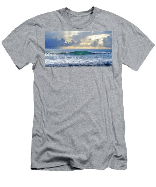 Ocean Blue Men's T-Shirt (Slim Fit) by Laura Fasulo