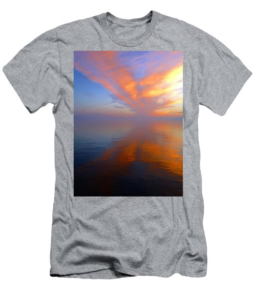 Ocracoke Nc Sunrise Men's T-Shirt (Athletic Fit)