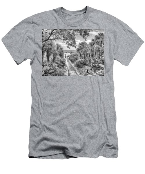Men's T-Shirt (Slim Fit) featuring the photograph Off To The Beach by Howard Salmon