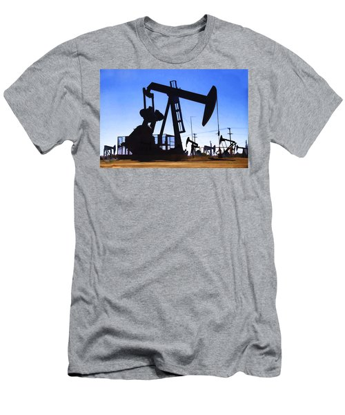 Oil Fields Men's T-Shirt (Athletic Fit)