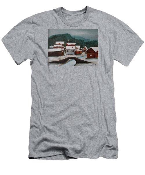 Oil Msc 032  Men's T-Shirt (Slim Fit) by Mario Sergio Calzi