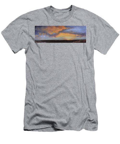 Oil Painting When The Sky Turns Color Men's T-Shirt (Athletic Fit)