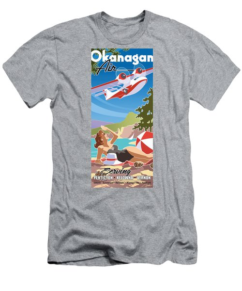 Okanagan Air, Mid Century Fun Men's T-Shirt (Athletic Fit)