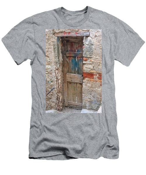Men's T-Shirt (Athletic Fit) featuring the photograph Old Door by Susan Leonard