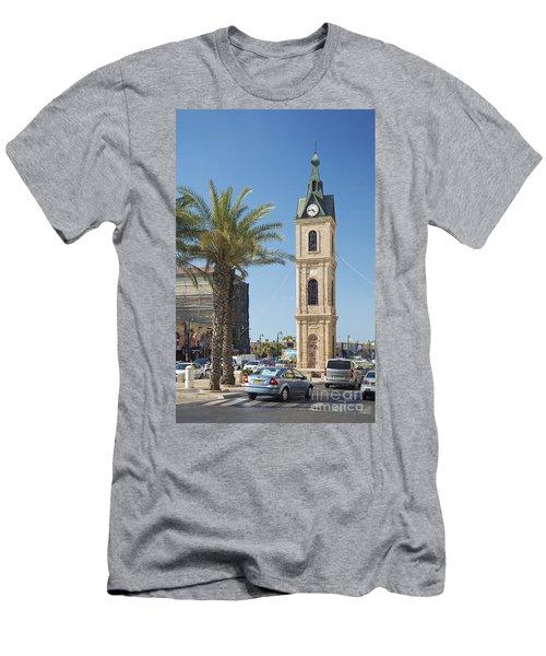 Old Jaffa Clocktower In Tel Aviv Israel Men's T-Shirt (Athletic Fit)