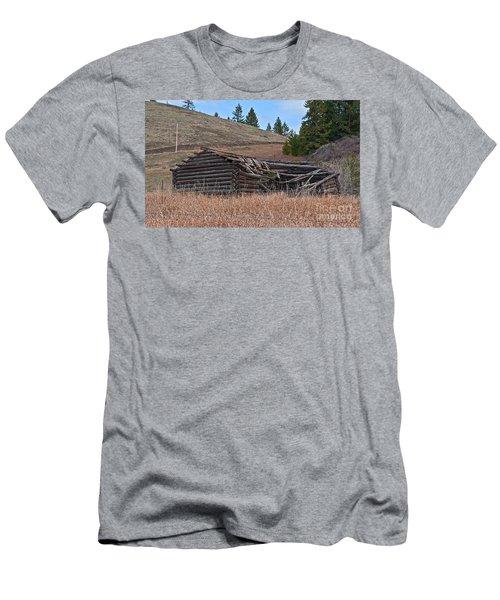 Old Turn Of The Century Log Cabin Homestead Art Prints Men's T-Shirt (Slim Fit) by Valerie Garner
