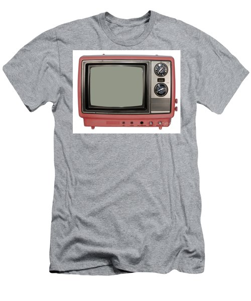 Vintage Tv Set Men's T-Shirt (Slim Fit) by Les Palenik