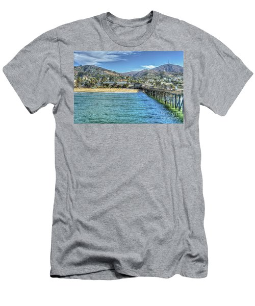 Old Ventura City From The Pier Men's T-Shirt (Athletic Fit)