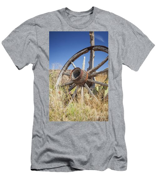 Men's T-Shirt (Athletic Fit) featuring the photograph Old Wagon Wheel by Bryan Mullennix