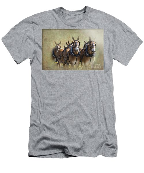 Old West Mule Train Men's T-Shirt (Athletic Fit)