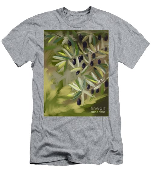 Men's T-Shirt (Slim Fit) featuring the painting Olive Tree by Go Van Kampen