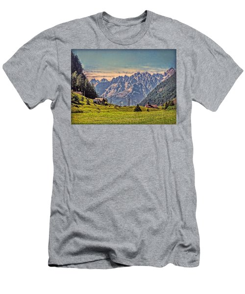 On The Alp Men's T-Shirt (Slim Fit) by Hanny Heim